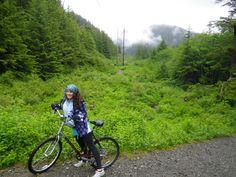 Biking through alaska trails