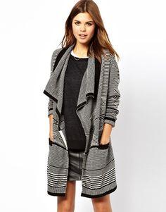 A Wear Thin Stripe Knit Coatigan