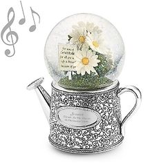 Personalized Bouquet of Gratitude Musical Snow Globe , Add Your Message