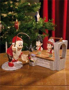 Disney Tomteverkstaden Hårpermanent & Tomte Spindel NY! på Tradera.com - Disney, Advent Calendar, Holidays, Christmas Ornaments, Holiday Decor, Home Decor, Father Christmas, Fimo, Noel