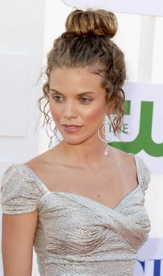 Updo For Long Curly Hair - Curly Sock Bun