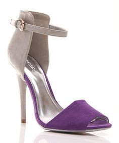 Another great find on #zulily! Gray & Purple Calantha Sandal #zulilyfinds