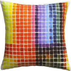 "color block 16"" pillow  | CB2 $34.95"