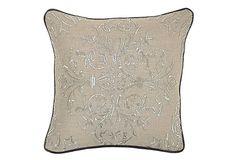One Kings Lane - Festive & Fun - Parker 18x18 Linen Pillow, Natural