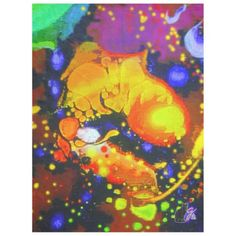 """Unearthly Delight Fleece Blanket. Wrap yourself in this exotic fleece and be transported to a psychedelic dreamland. The image is from my Kinetic Collage """"Sweet Dreams"""" series of psychedelic light show photos. 1/30th of a second flash frozen in time and space. Cool, yes? Over 3000 products at my Zazzle online store. Open 24/7 World wide! http://www.zazzle.com/greg_lloyd_arts*?rf=238198296477835081 + See KC @  http://www.youtube.com/user/kineticcollage"""
