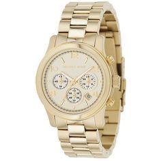 9e80c34f60b Michael Kors Golden Oversized Runway Watch- Birthday present! irene rose  tero