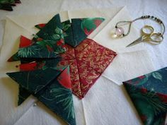 Alternative Folded Star Tutorial (create folded pieces first, then overlap & stitch down)