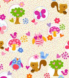 Novelty Quilt Fabric- Forest Animals & Dots & quilting fabric & kits at Joann.com