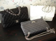 Chanel Classic flap bag and Chanel Reissue bag - Handbags, Purses, and Bags - Zimbio! They are gorgeous! Burberry Handbags, Chanel Handbags, Louis Vuitton Handbags, Purses And Handbags, Designer Handbags, Chanel Reissue, Grey Purses, Beautiful Handbags, Beautiful Bags