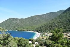 The View of the Hills and Beaches in Kefalonia Greece