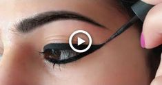 Wing Eyeliner     - How To Apply Perfect Winged Eyeliner for Beginners | Anaysa #hair #EyelinerPencil Perfect Winged Eyeliner, Simple Eyeliner, Smokey Eye Makeup Tutorial, Best Eyeliner, How To Apply Eyeliner, No Eyeliner Makeup, Pencil Eyeliner, Emo Makeup, Asian Makeup