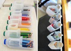 bouteille-plastique-de-jus-transformes-en-pot-a-crayons-idee-avec-du-plastique-recyclable