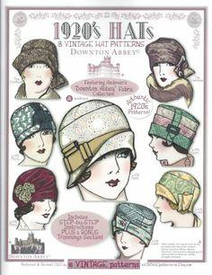 1920's Hats8 Vintage Hat Patterns