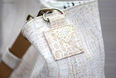 sisko by mieke: Compass bag in croco-kurk