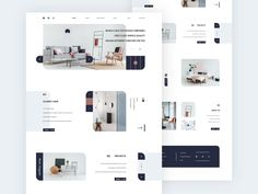 Interior Design Web Concept designed by Romeo M. for Queble. Connect with them on Dribbble; Interior Design Website, Interior Design Companies, Interior Design Studio, Tile Design, Ux Design, Minimal Web Design, Branding, Website Layout, Website Ideas