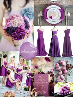 Radiant Orchid Inspiration Board - love this!
