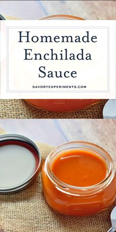 Easy Homemade Enchilada Sauce takes only 3 main ingredients a handful of spices you already have in the pantry. Ten minutes later, you have a custom enchilada sauce! Tamale Sauce, Sauce Enchilada, Recipes With Enchilada Sauce, Homemade Enchilada Sauce, Barbecue Sauce Recipes, Homemade Enchiladas, Homemade Sauce, How To Make Enchiladas, Ketchup