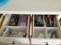 Hemnes dresser and Skubb drawer organizers