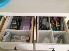 Hemnes dresser and Skubb drawer organizers