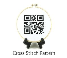 Home Sweet Home QR Code Cross Stitch by ShopDeliciousThreads - Traditional craft blended with a nod to the digital life - #ShopDeliciousThreads #SFEtsy