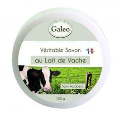 CouleurTropiques,savon Galeo au lait de vache, 100g de pure douceur