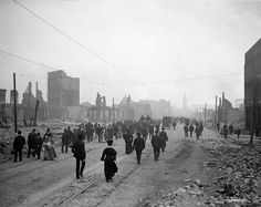 San Francisco Earthquake, Market Street toward Ferry, 1905