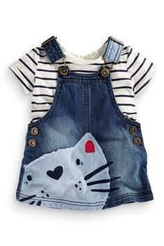Buy Cat Pinafore And T-Shirt (3mths-6yrs) from the Next UK online shop