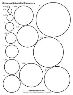 1 inch circle template printable and many other sizes for 9 inch circle template