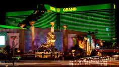 A view of the MGM Grand Hotel and Casino, the second largest hotel resort complex in Las Vegas.