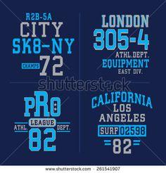 Sport typography, t-shirt graphics, vectors