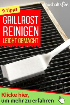 Grillrost reinigen einfach und effektiv – Haushaltsfee.org Grill Pan, Grilling, Food And Drink, Kitchen, Lifehacks, Tricks, Loom, Cleaning Recipes, Cuisine