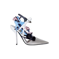 OOOK - Dior - Shoes 2014 Spring-Summer - LOOK 3 | Lookovore ❤ liked on Polyvore featuring shoes, pumps, dior, summer footwear, summer shoes and summer pumps