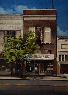 "2011, Bluebird by Joseph Alleman Watercolor ~ 14"" x 10"""