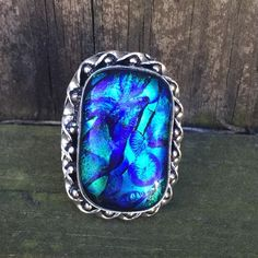 Dichroic glass ring NWOT Sterling silver dichroic glass ring  Jewelry Rings