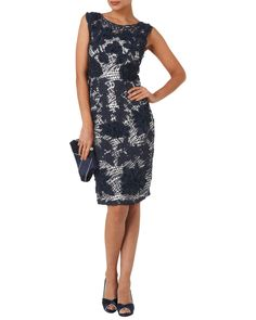 Buy Phase Eight Dotty Tapework Dress, Navy/White from our Women's Dresses Offers range at John Lewis & Partners. Occasion Wear, Occasion Dresses, Blue Dresses, Formal Dresses, Bridesmaid Dresses, Wedding Dresses, Wedding Outfits, Glitz And Glam, Mesh Dress