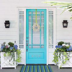 Colourful front doors | Bella Casa