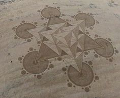 Sacred Geometry is the Fabric of Reality! 3rd Dimensional Energy. Brean Beach, Somerset, UK on 29th May 2013