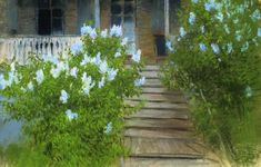 Spring. White lilacs. - Isaac Levitan