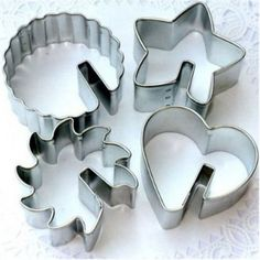 Over the Edge 4 Piece Tin Cookie Cutter Set 6732 >>> Check this awesome product by going to the link at the image. (This is an affiliate link) Metal Cutter, Metal Cookie Cutters, Cookie Cutter Set, Xmas Food, Cooking Gadgets, Baking Tools, Coffee Set, Sugar Cookies, Owl Cookies