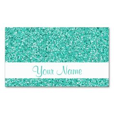 Turquoise Glitter Pattern Business Card Templates. Make your own business card with this great design. All you need is to add your info to this template. Click the image to try it out!