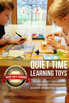 Quiet time learning toys gift guide - I want everything on this list!! Love the detailed descriptions and age recommendations, super helpful!