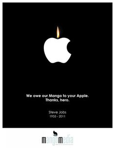 The Creative Ad World: MANGO MEDIA - Steve Jobs Tribute Ad