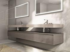 Mobile bagno modulare sospeso con cassetti Collezione Cubik by IdeaGroup