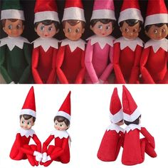 37cm Newest Christmas Doll reindeer The Elf On The shelf Christmas dolls Tradition Gifts Kids Elf Plush Toys Couture Collection#the elf on the shelf