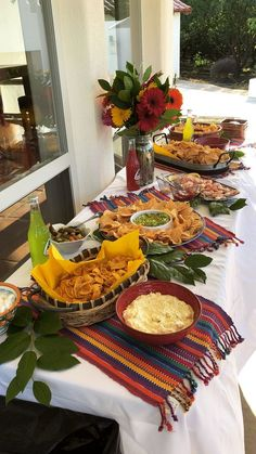 Cinco de Mayo Party Food Ideas The post Cinco de Mayo Party Food Ideas appeared first on Mattie Christian. Mexican Dinner Party, Mexican Birthday Parties, Mexican Fiesta Party, Fiesta Theme Party, 60th Birthday Party, Mexico Party Theme, Fiesta Party Foods, Mexican Dessert Table, Fiesta Gender Reveal Party
