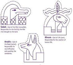 Design an Ancient Egyptian death mask, outline