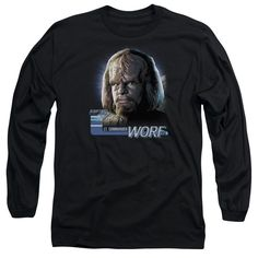 """Checkout our #LicensedGear products FREE SHIPPING + 10% OFF Coupon Code """"Official"""" Star Trek / Tng Worf - Long Sleeve Adult 18 / 1 - Star Trek / Tng Worf - Long Sleeve Adult 18 / 1 - Price: $29.99. Buy now at https://officiallylicensedgear.com/star-trek-tng-worf-long-sleeve-adult-18-1"""