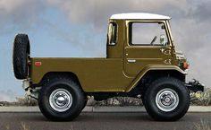 FJ40 Land Cruiser chopped electronically into a short wheelbase truck.