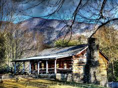Gatlinburg Cabin No. 1 rustic nature landscape by Jemvistaprint, $25.00