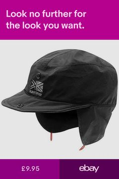 ed793734607 Karrimor Mountain Hat Cap Walking Hiking Outdoor Waterproof Black S M L XL